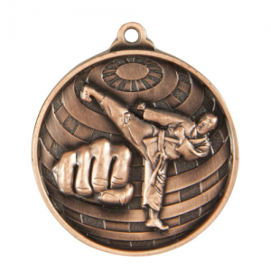 1073-11BR Martial Arts Medal 50mm