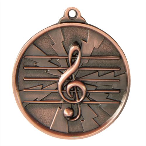 1070-MUSIC-BR Music Medal 50mm