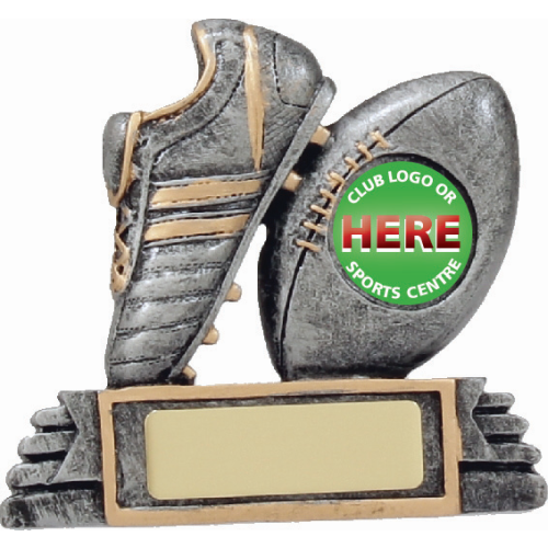 12031 Rugby Trophy 90mm