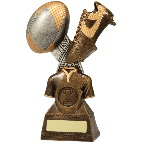 14239C Rugby Trophy 180mm
